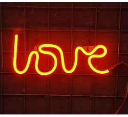 NEON YAZI - NEON LOVE - FLEXİBLE LED NEON IŞIK 12 VOLT   - TURUNCU - ORANGE